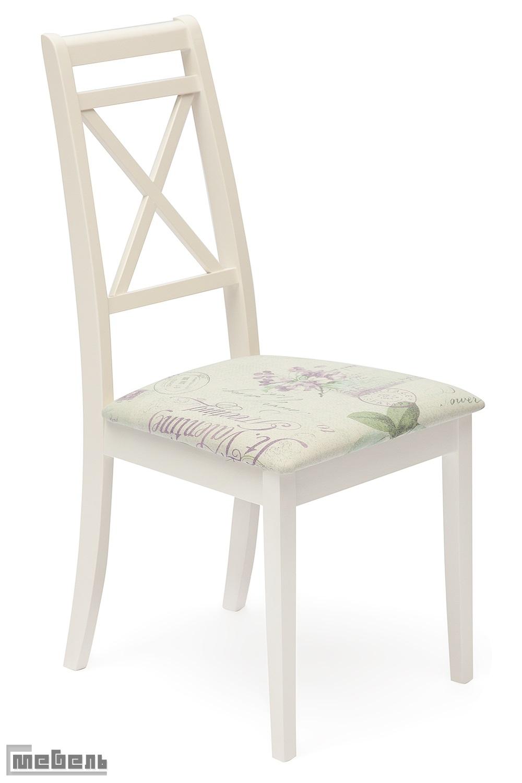 """Стул с мягким сиденьем """"Пикассо"""" (Picasso) Ivory white/Слоновая кость, цвет: Прованс №13"""
