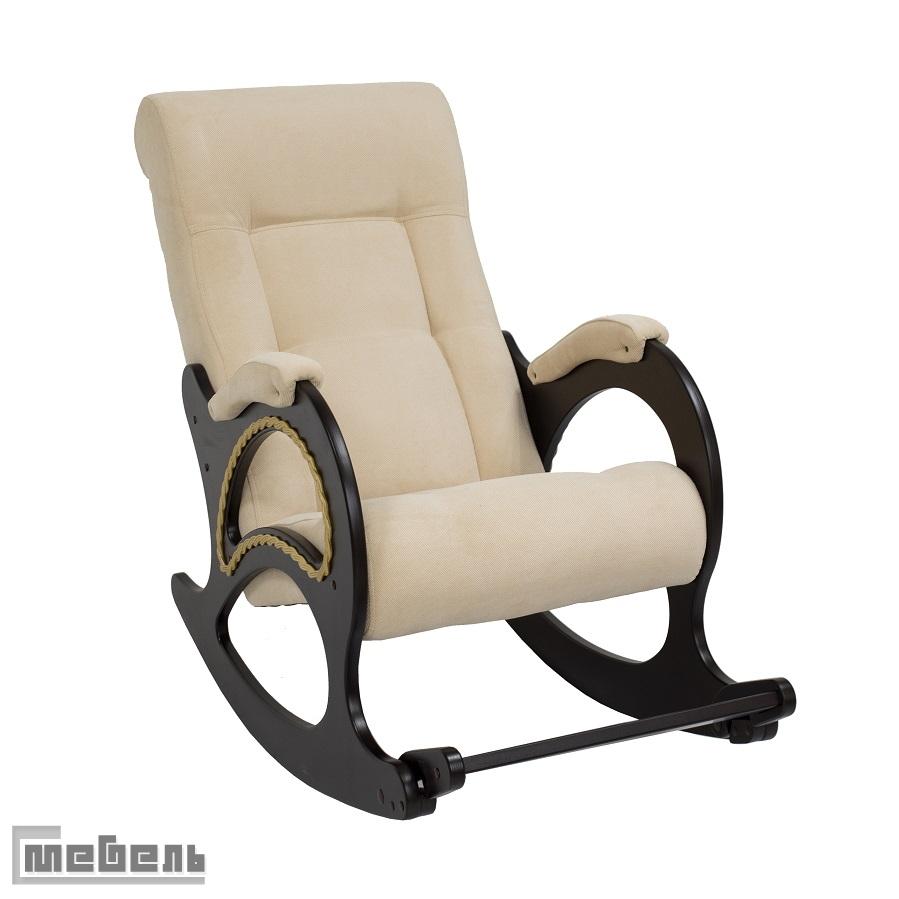 """Кресло-качалка, модель 44 (с лозой), ткань велюр: """"Verona vanilla"""""""