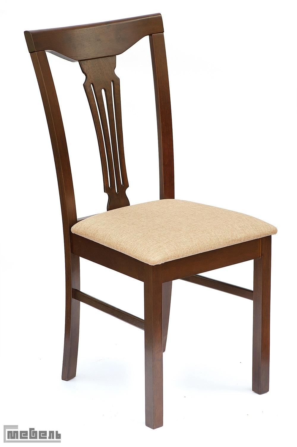 """Стул с мягким сиденьем """"Гермес"""" (Hermes) цвет: Тёмный орех (Cappuccino)"""