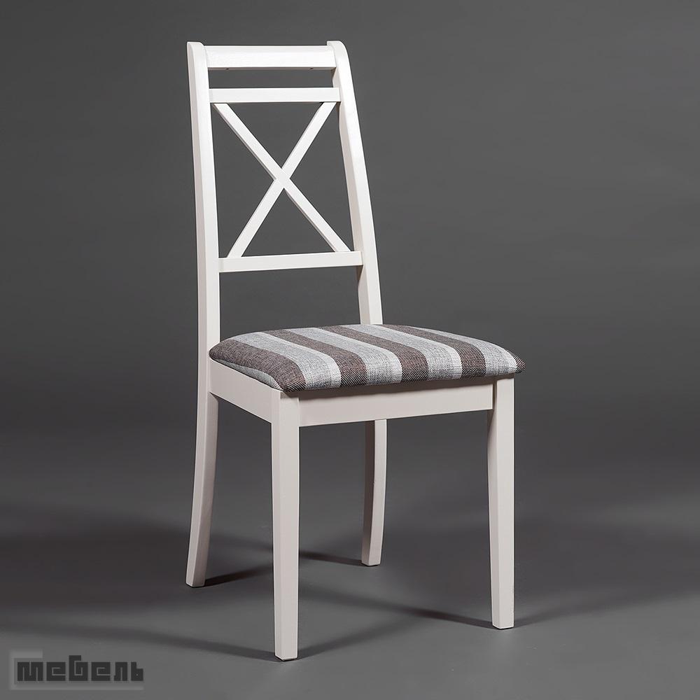 """Стул с мягким сиденьем """"Пикассо"""" (Picasso) Ivory white/Слоновая кость. цвет: Серо-коричневая полоска"""
