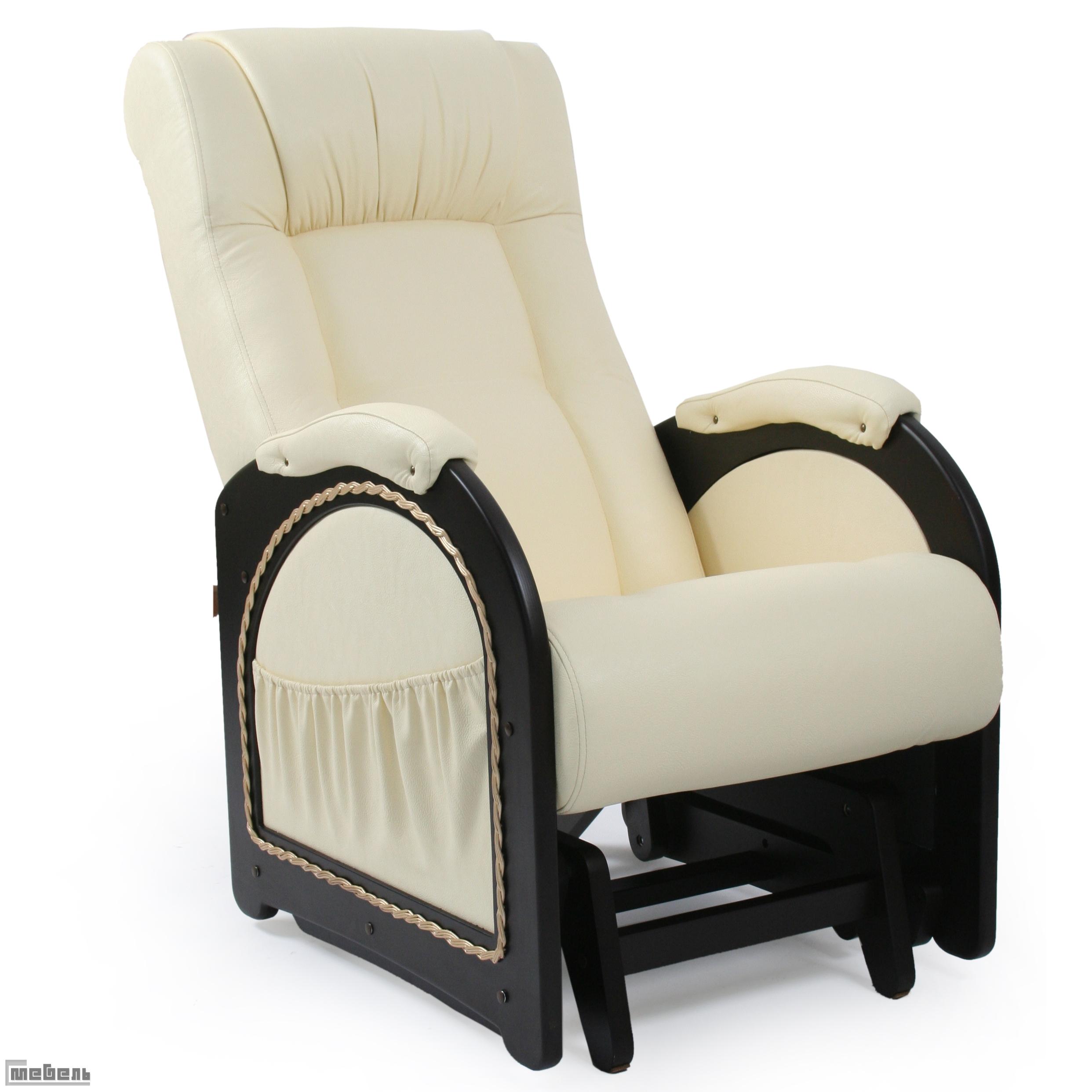 """Кресло-качалка """"Гляйдер"""" модель 48 (013.0048) Эко кожа Дунди 112"""
