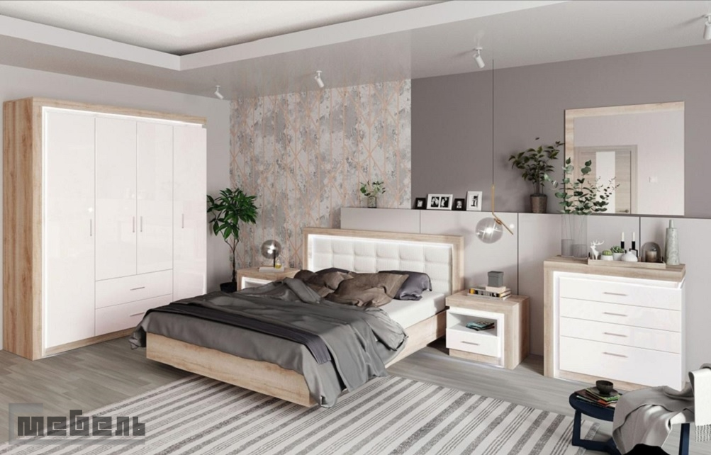 "Спальня ""Люмен"" (модульная) - Комплектация №1"