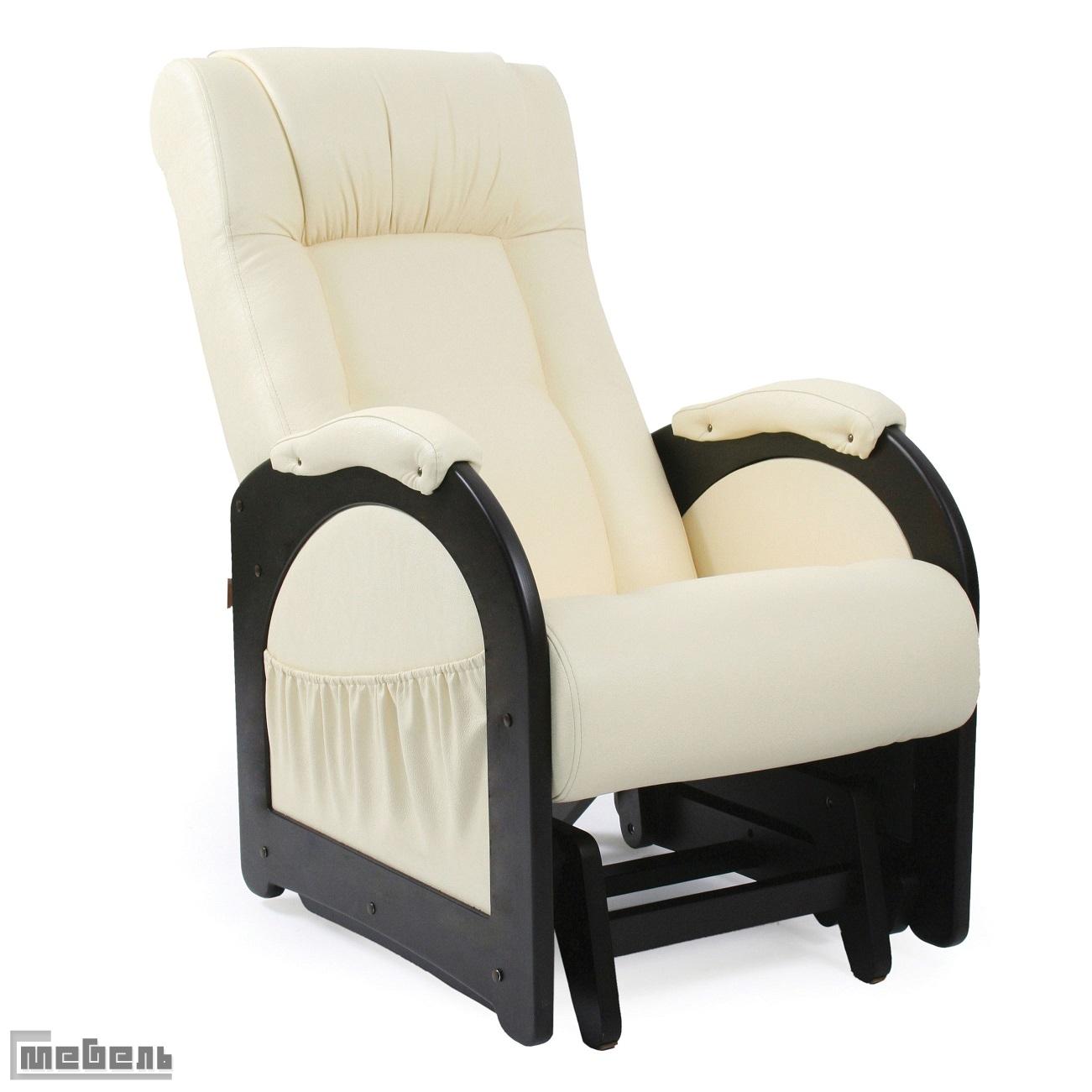 """Кресло-качалка """"Гляйдер"""" модель 48 (013.0048) Эко кожа Дунди 112, без """"Лозы"""""""