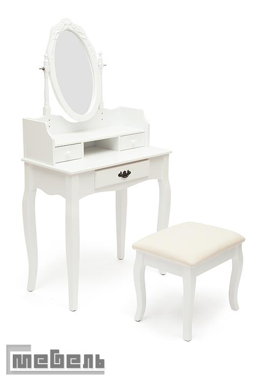 "Туалетный стол с пуфом ""NY-V3024"" (Белый)"