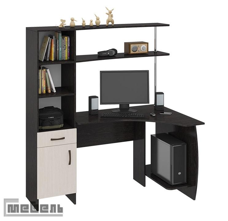 """Компьютерный стол """"Профи М"""" (Венге цава - Дуб молочный)"""