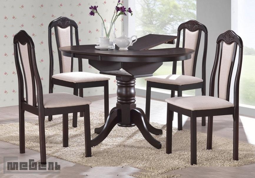 """Обеденная группа """"2053 - 302-1SF CF-BISCUIT"""" (стол + 4 стула) Венге"""
