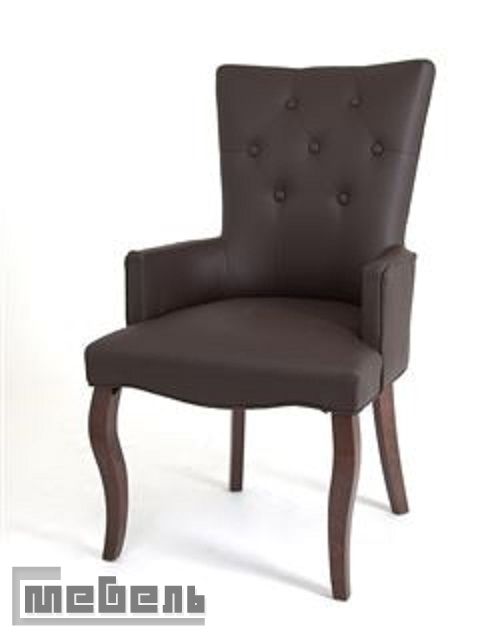 Кресло Виктория (тёмный тон/кожзам 1-шоколад)