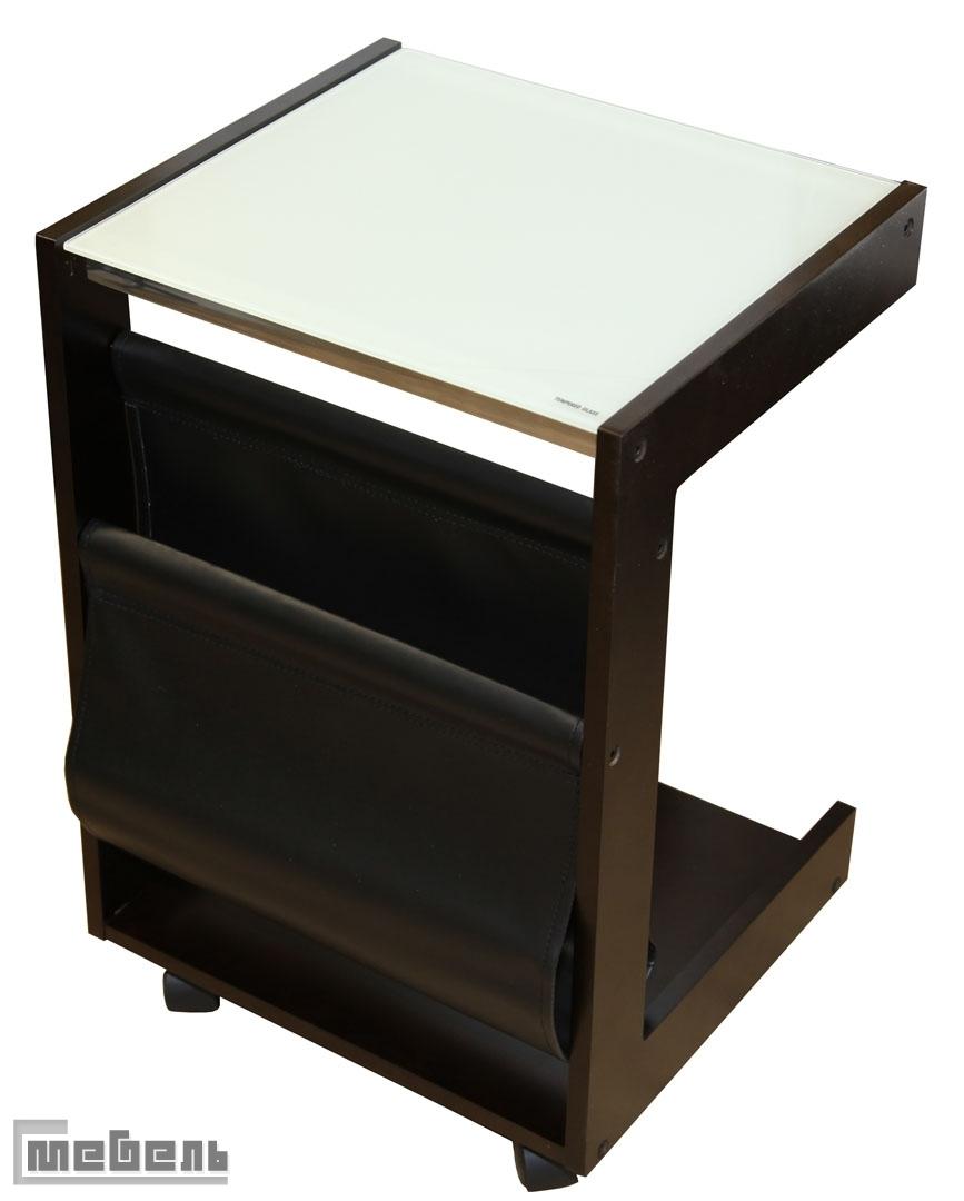 """Кофейный столик на колёсиках """"SR-0649"""" (Тёмный орех)"""