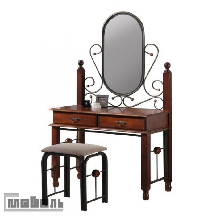 """Туалетный столик с зеркалом и пуфом """"ДТ 777"""" (Дуб)"""