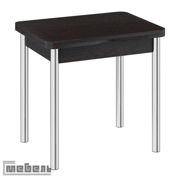 """Стол обеденный раскладной с хромированными ножками """"Лион"""" СМ-204.02.2 Венге"""