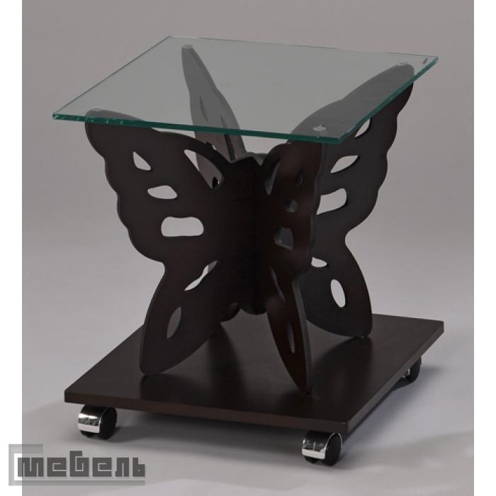 """Кофейный столик """"SR-1122-W"""" Бабочка (Тёмный орех)"""