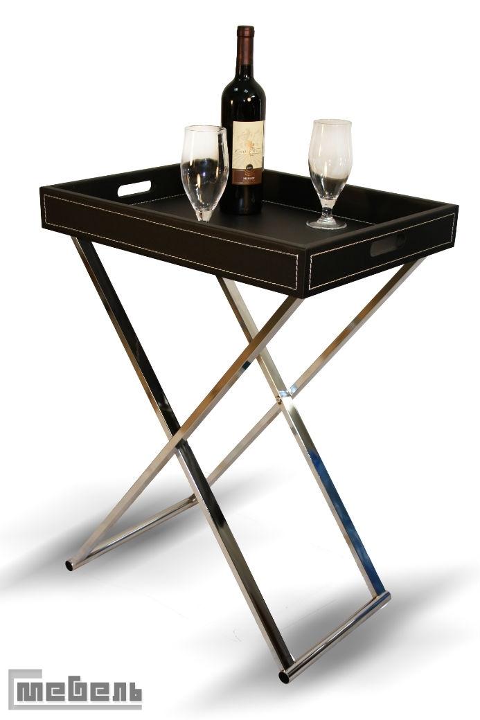 """Сервировочный столик """"SR-0465"""" (Искусственная кожа, металл)"""