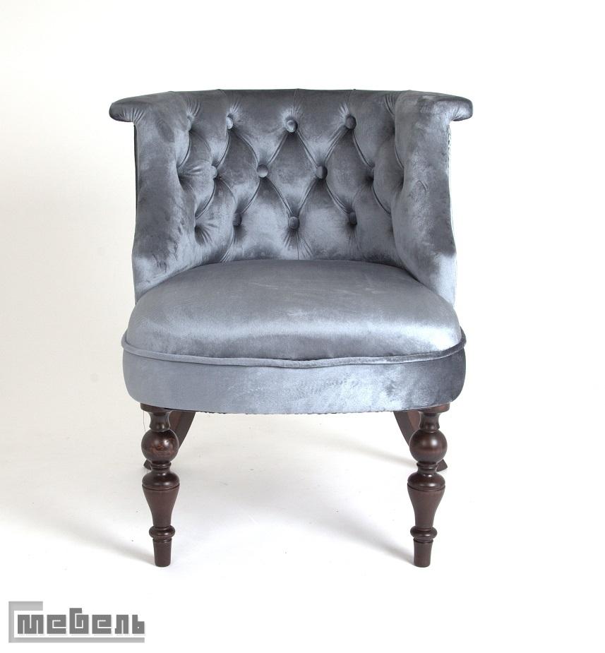 Кресло Бархат (тёмный тон/45-голубовато-серый)
