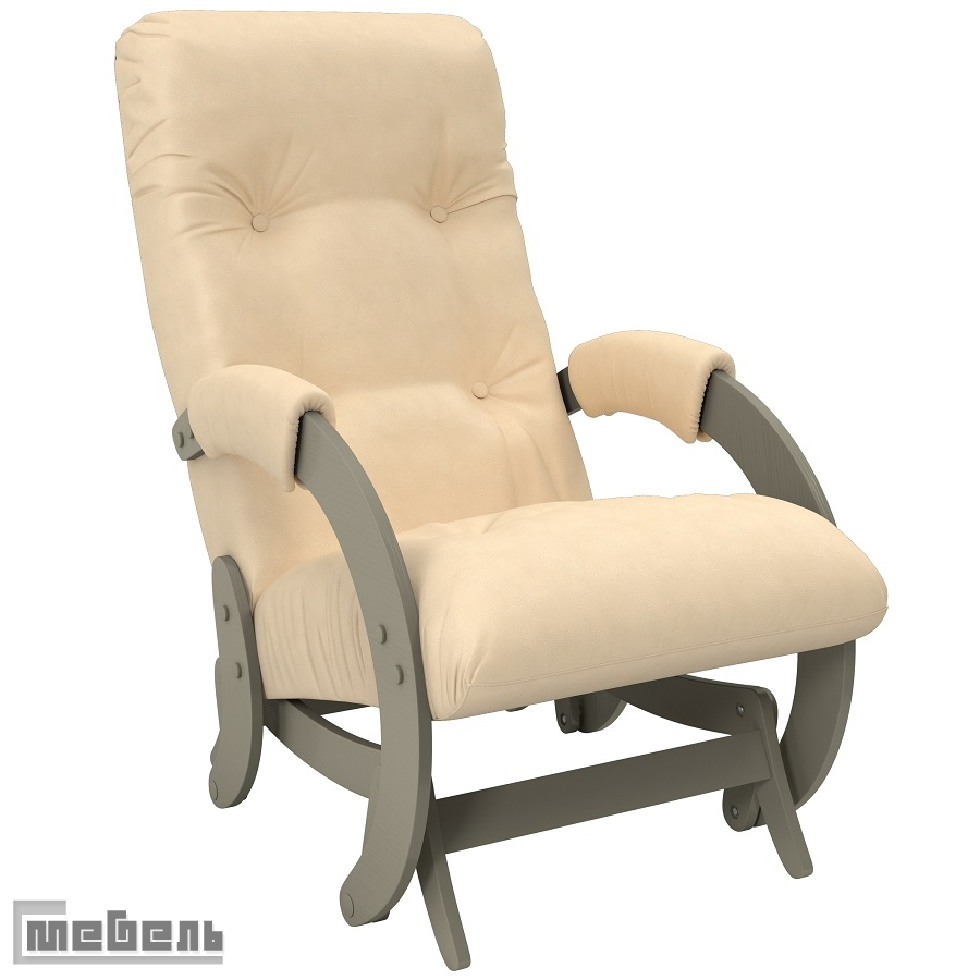 """Кресло-качалка глайдер модель 68 экокожа: """"Polaris beige"""""""