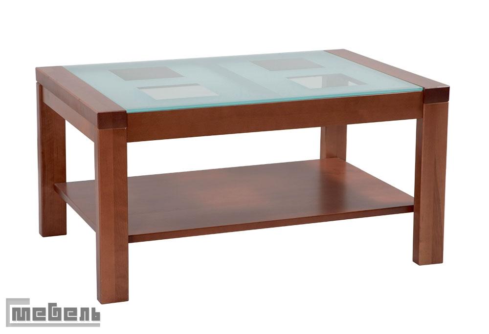 Журнальный стол Массив со стеклом