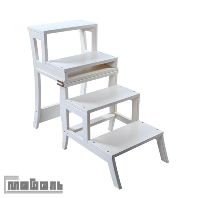 "Стул-лестница трансформер ""Leset Brooklin"" цвет: Белый"
