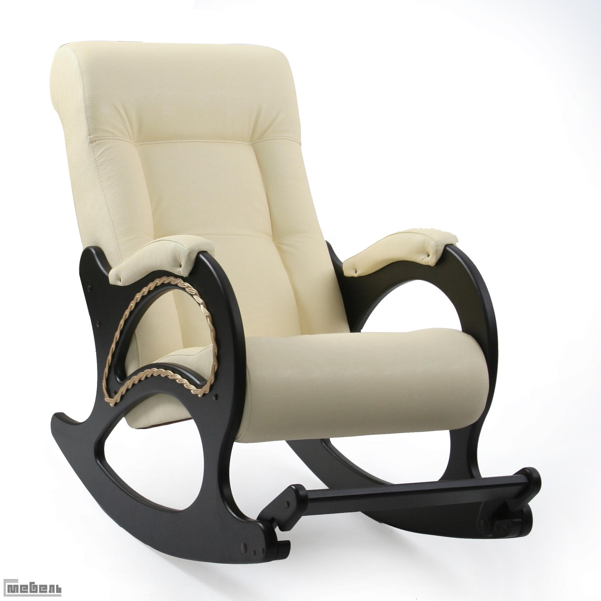 Кресло-качалка, модель 44 (013.0044), экокожа Дунди 112