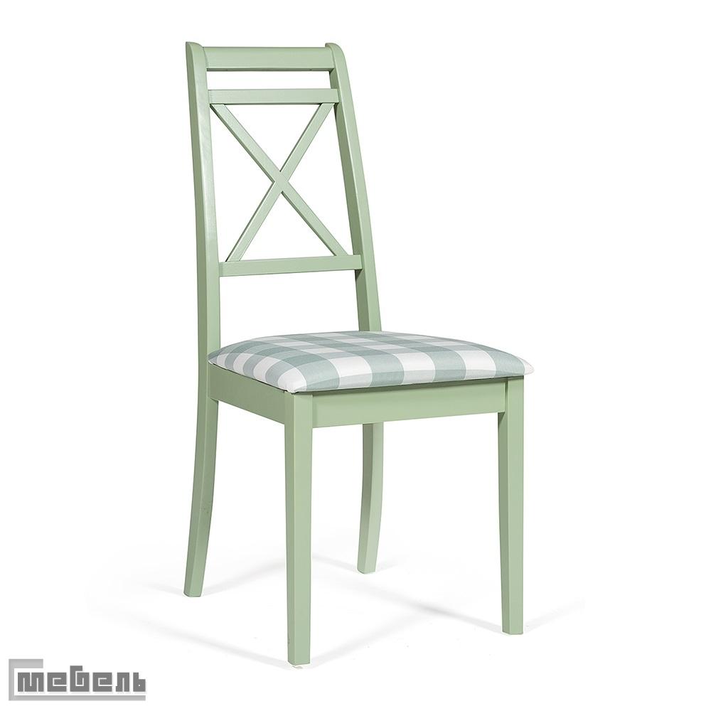 """Стул с мягким сиденьем """"Пикассо"""" (Picasso) Фисташковый, цвет: Зелёная клетка"""
