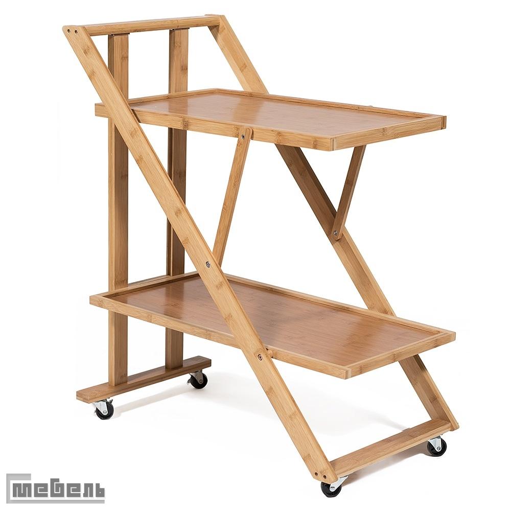 Сервировочный столик (модель JWFU-3342) Натуральный