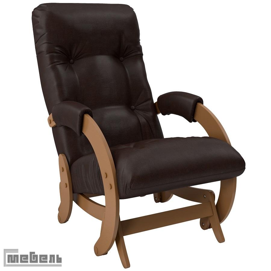 "Кресло-качалка глайдер модель 68 экокожа: ""Real lite dk. brown"""