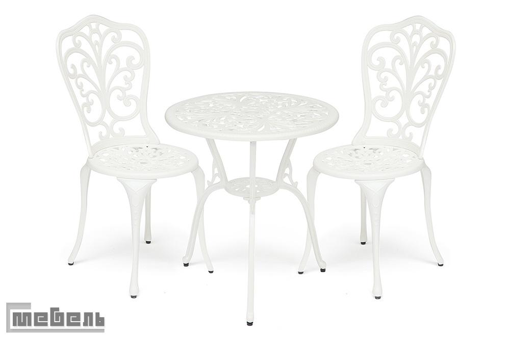 """Обеденная группа """"Романс"""" (стол + 2 стула """"Моцарт"""") цвет: Белый"""