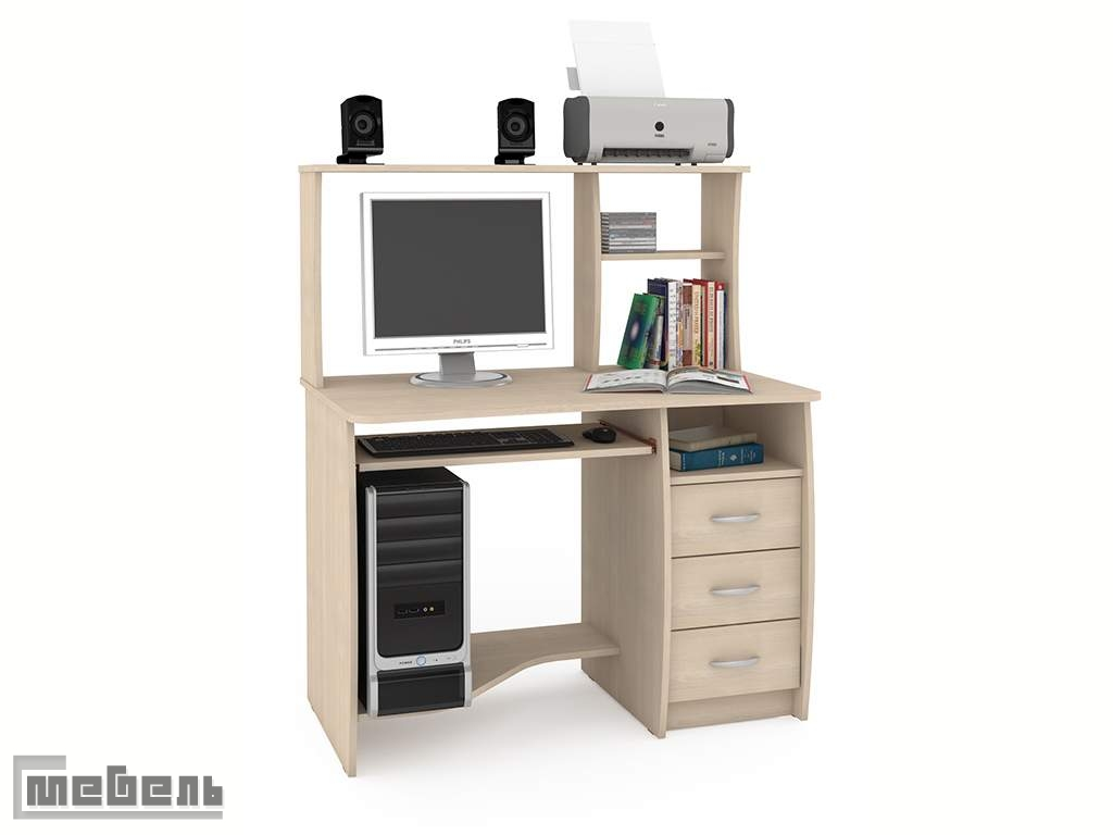 "Компьютерный стол ""Комфорт 4 СК"" (Дуб Паллада)"