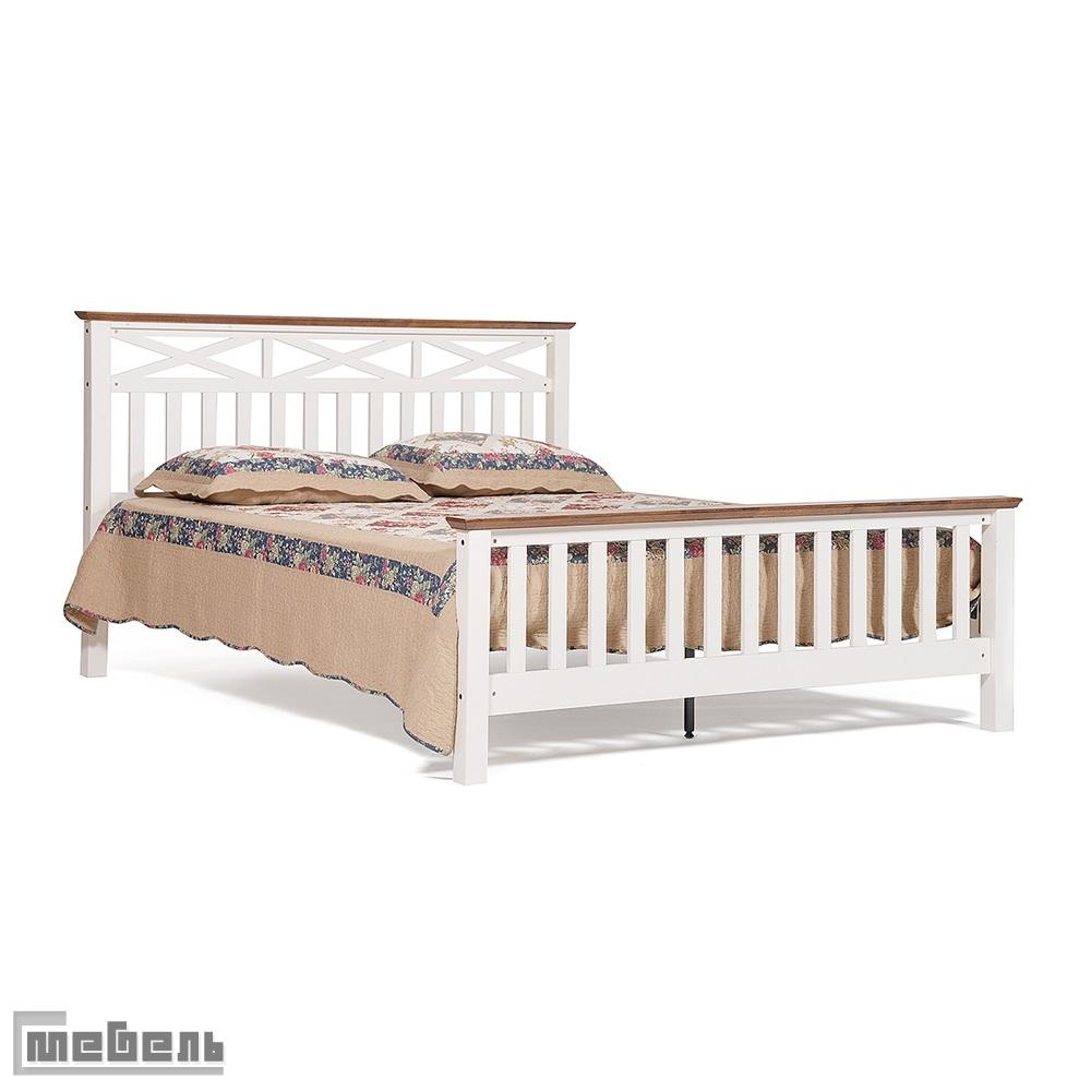 """Кровать двуспальная """"Linari"""" (1600 х 2000 мм.) цвет: Дуб/Слоновая кость"""
