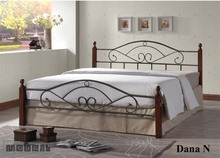 """Кровать двуспальная """"Дана"""" (Dana (1400 х 2000 мм.)) Тёмный орех"""