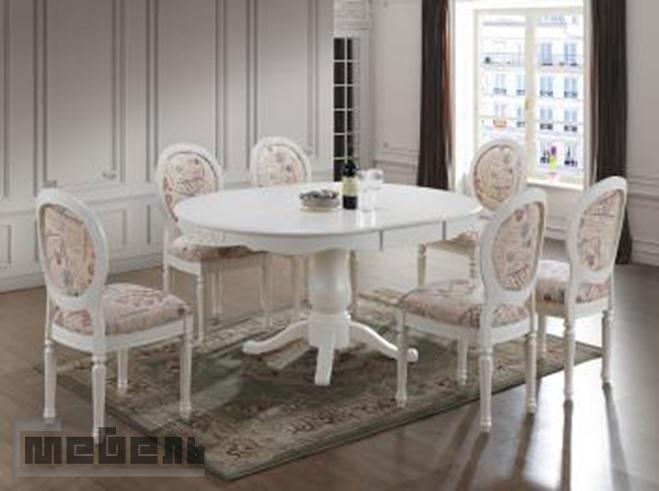 """Обеденная группа """"Париза"""" (Parisa), (стол + 6 стульев) Ivory white/Слоновая кость"""